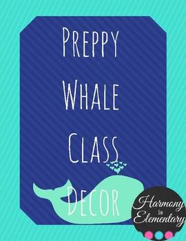 Preppy Whale Class Decor