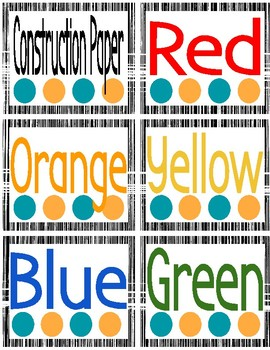 Preppy With A Pop: Classroom Labels