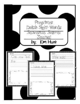Preprimer Dolch Sentence Starters Journal