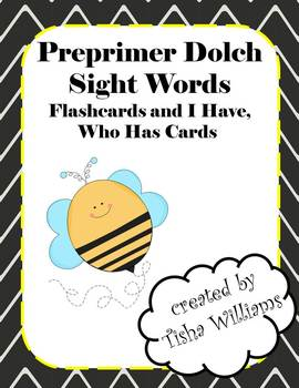 Preprimer Dolch Sight Words