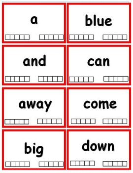 Preprimer Dolch Sight Word Flash Cards with Data Tracking Options - RF.K.3