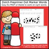 Preprimer Dot Marker Words