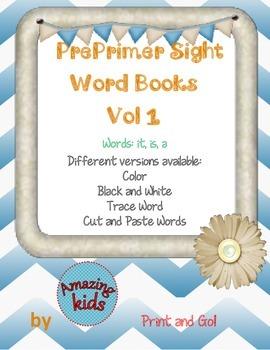 Preprimer Sight Word Books Vol 1