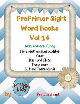 Preprimer Sight Word Books Vol 14