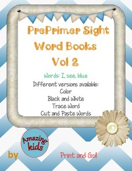 Preprimer Sight Word Books Vol 2