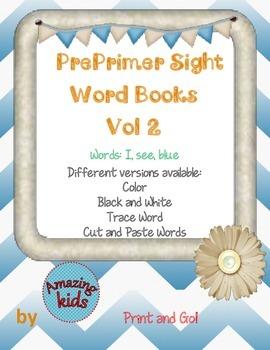 Preprimer Sight Word Books Vol 2
