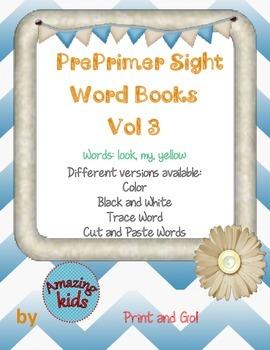 Preprimer Sight Word Books Vol 3
