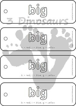 Preprimer Sight Word Color by Letter Bookmarks