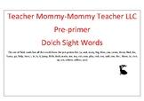 Preprimer Sight Word Flashcards