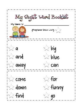 Preprimer Sight Word Pack 1