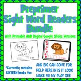 Preprimer Sight Word Reader Bundle 16 Books Google Slides