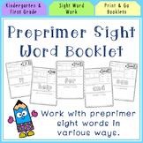 Preprimer Sight Word Worksheets (and flash cards)