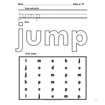 Preprimer Sight Word Write, Color and Search