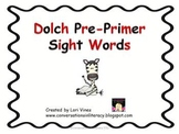 Preprimer Sight Words Dolch List PowerPoint