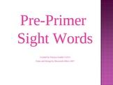 Preprimer Sight Words Powerpoint