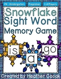 Preprimer Snowflake Sight Word Memory Game