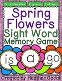 Preprimer Spring Flowers Sight Word Memory Game