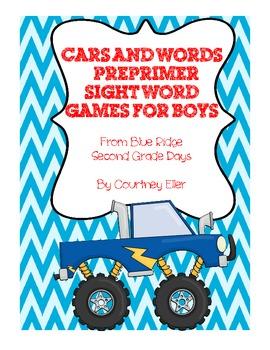 Preprimer and Primer Sight Word Games For Boys Bundle