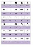 Preprimer sight word bingo with word call cards
