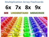 back2school Preprinted Multiplication Array Cards-See,Unde