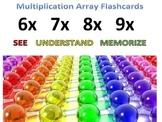 back2school Preprinted Multiplication Array Cards-See,Unde