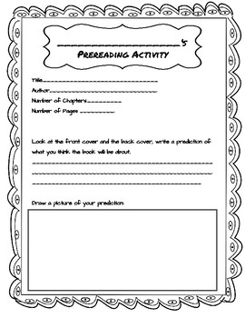 Prereading Activity for Any Chapter Book