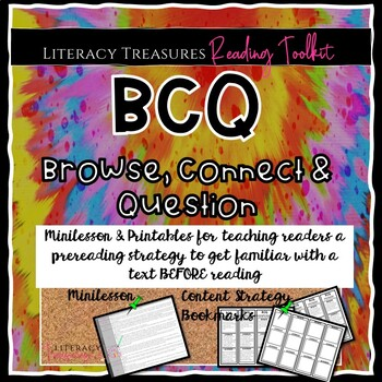 Prereading:  Browse Connect and Question Strategy Lesson