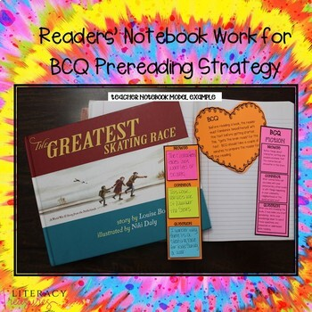 Reading Toolkit: PreReading Minilesson:  Browse Connect, Question BEFORE Reading