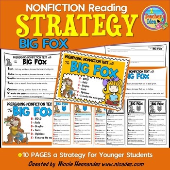 Reading Strategy for Nonfiction Texts- BIG FOX