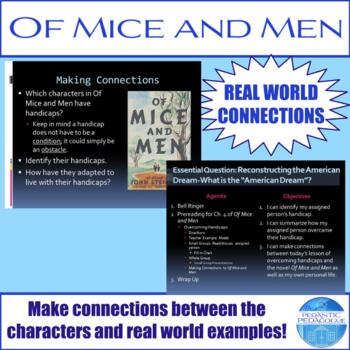 Prereading for Ch. 4 of Of Mice and Men by John Steinbeck