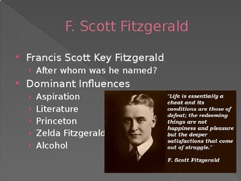 Prereading for The Great Gatsby by F. Scott Fitzgerald