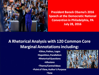 Pres. Barack Obama 2016 Speech at the Democratic Convention-Rhetorical Analysis