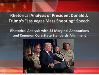 Pres. Donald J. Trump 2017 Las Vegas Mass Shooting Address – Rhetorical Analysis