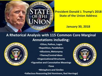 Pres. Donald J. Trump 2018 State of the Union Address – Rhetorical Analysis
