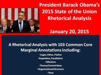Pres. Obama's 2015 State of the Union Speech - Common Core Rhetorical Analysis