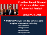 Pres. Obama's 2015 State of the Union Speech - Common Core Rhetorical Analysis