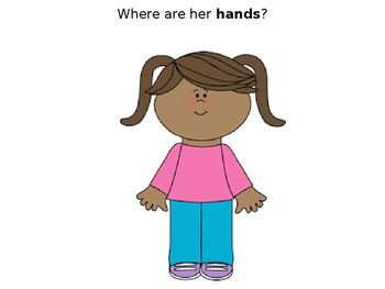 Preschool Body Parts Identification Slideshow *Plus 4 Bonus Flashcards*