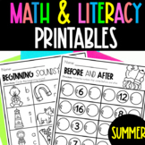 PreK and Kindergarten Summer Review Packet   Summer Worksh
