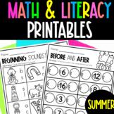 PreK and Kindergarten Summer Review | Summer Worksheets for PK or Kindergarten