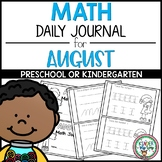 Preschool Math Journal August