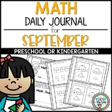 Preschool Math Journal September