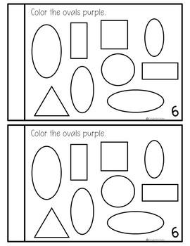 Preschool Math Journal October