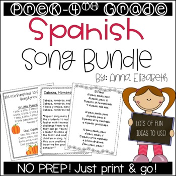 Spanish Song Bundle (Preschool-4th Grade)