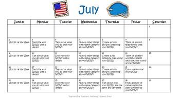 Preschool- 1st Grade Summer Practice: Vocabulary **UPDATED FOR SUMMER 2017!!***