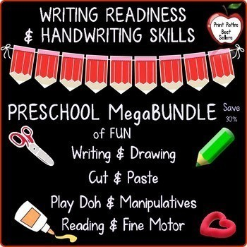 Preschool Writing Readiness and Handwriting: 13 Complete Resources~ MegaBundle