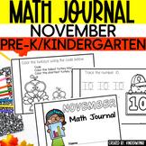 Preschool Math Journal November