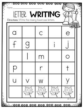 Preschool Fall Math and Literacy Packet - NO PREP
