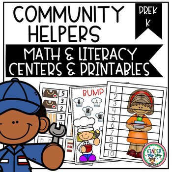 Community Helper Math and Literacy Activities Preschool