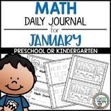 Preschool Math Journal January - NO PREP