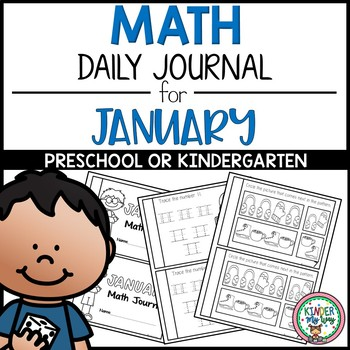 Preschool Math Journal January - NO PREP